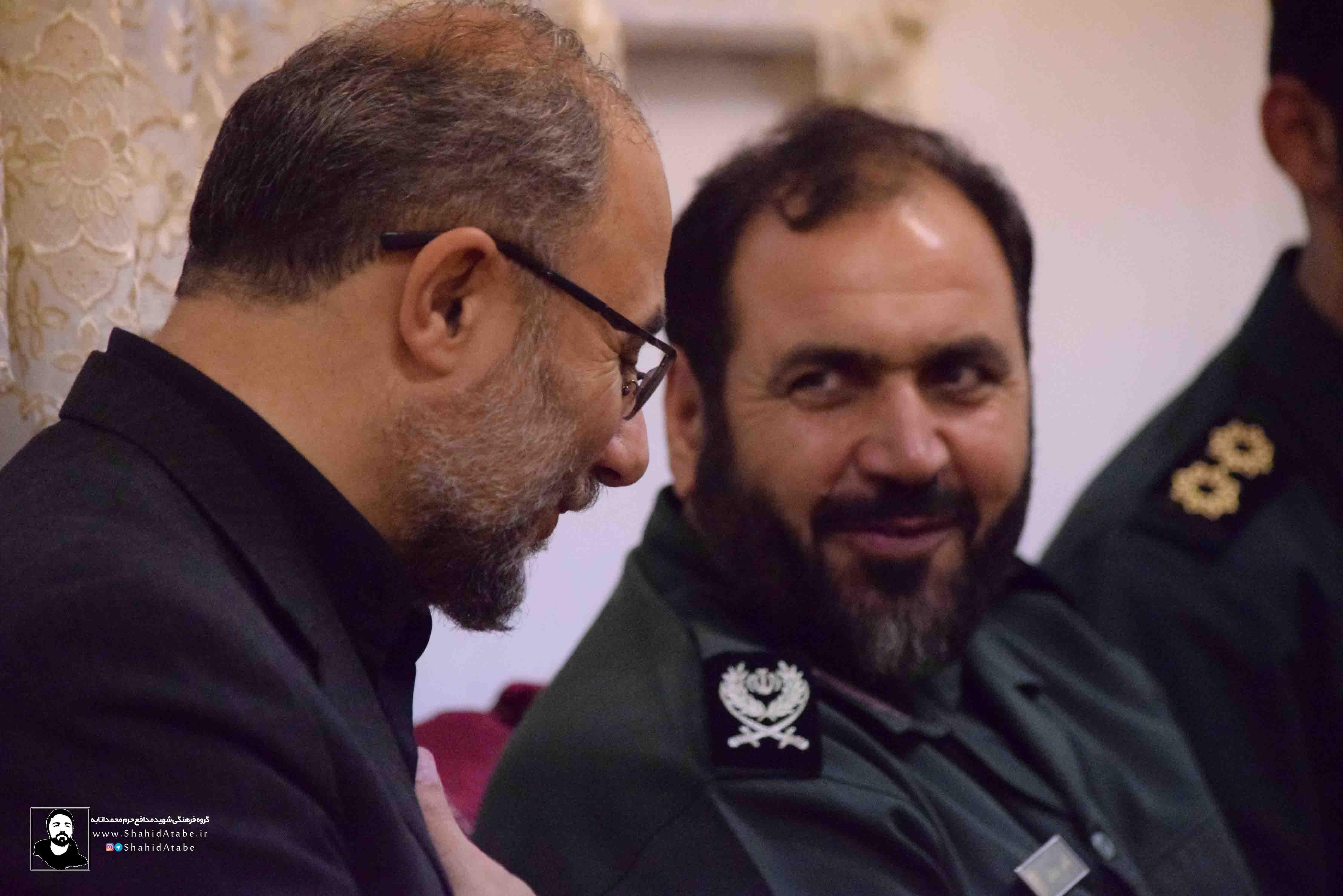 دیدار سردار نوراللهی با خانواده شهید مدافع حرم محمد اتابه
